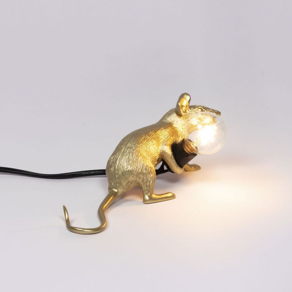 Mouse Lamp Lying down by Seletti