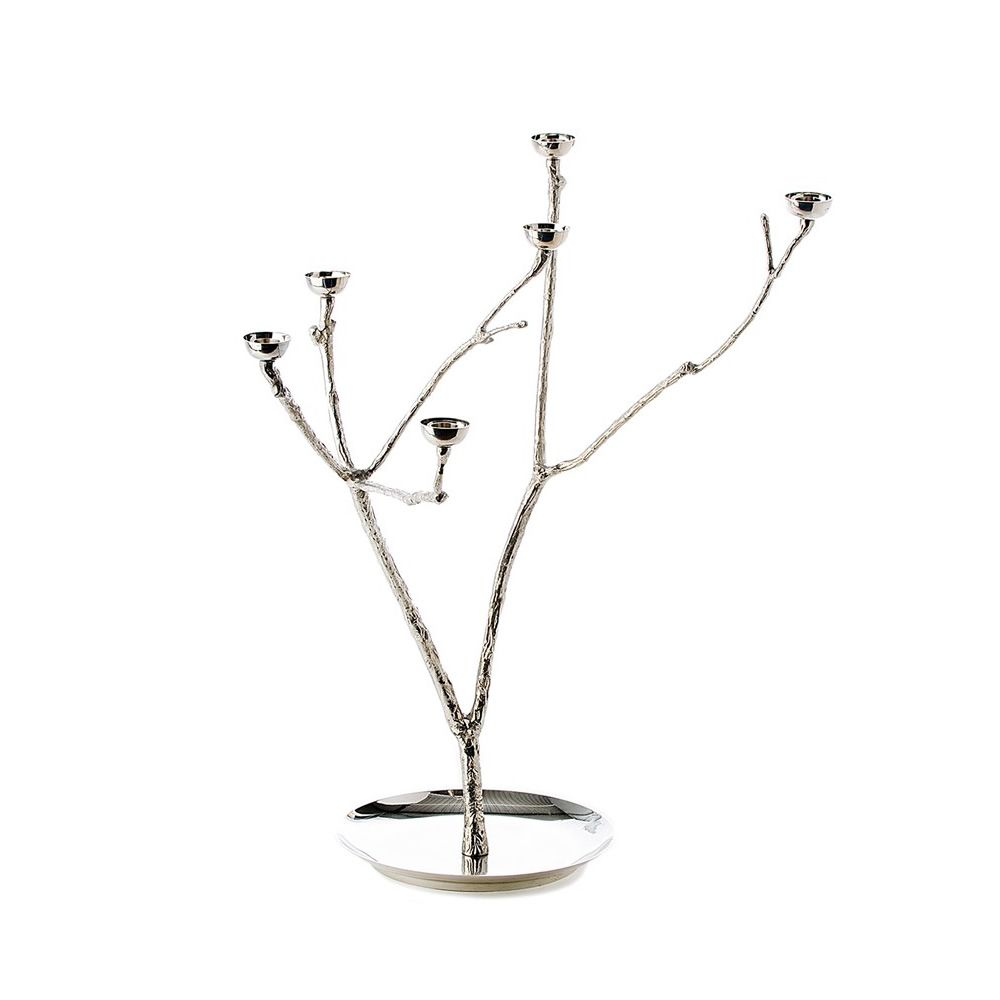 Pols potten design candlestick, in brass, in the shape of a tree, size L