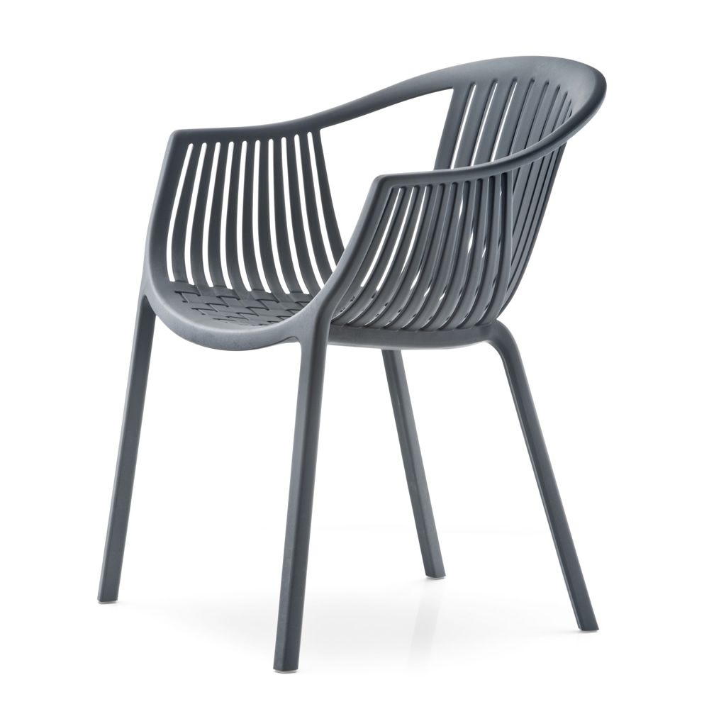 Outdoor chair, anthracite grey colour