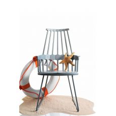 Comback 5950 - Design Kartell slide chair, in polymer and steel, different colours