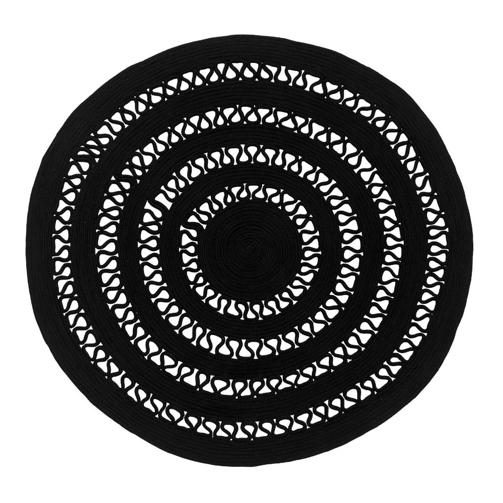 Modern round rug in nautical rope