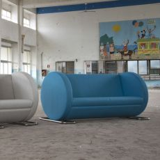 Tube XL - Designer sofa Adrenalina, 2 seats, available in different coverings