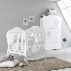 Bonnie - Pali wooden cot with drawer, bed slat base adjustable in height