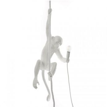 Monkey Lamp ceiling - Seletti design suspension lamp, in resin, in the shape of a monkey, with Led