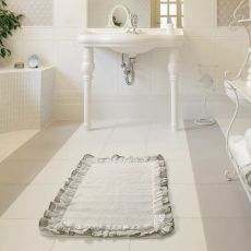 Vintage - Cotton rug for the bathroom, with cloth details