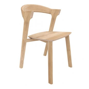 Bok - Chair made of oak wood, with natural finish