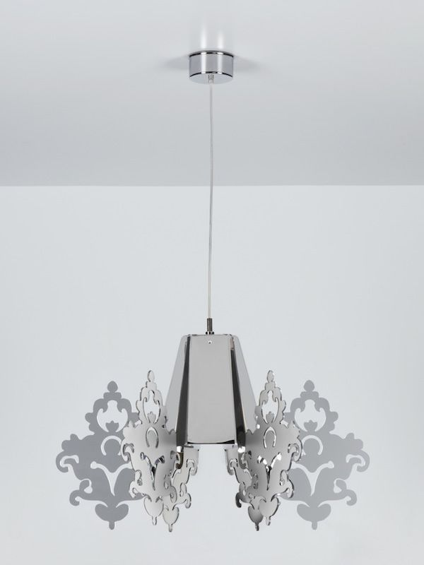 Suspension lamp in methacrylate - chromed