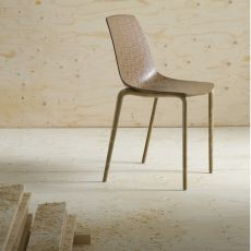 Alhambra Eco - Stacking design chair, made of recycled wood-plastic material
