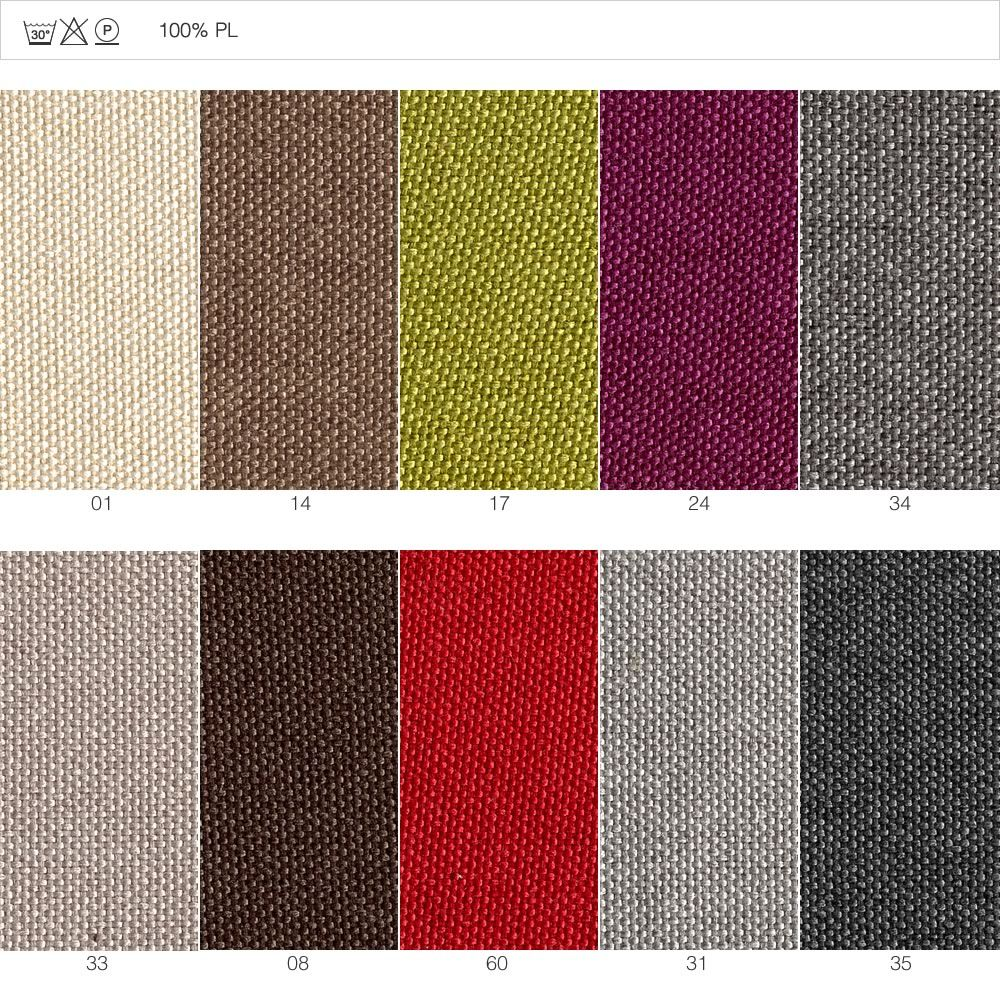 Synthetic fabric covering, characterized by thin weft (code: LU)