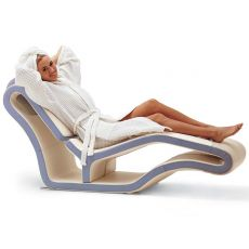Long-Y - Moderna chaise longue in pelle bicolore Global Relax