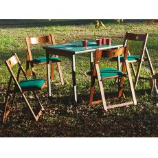 Torneo & Gioco - Play set: gaming table with green cloth and four chairs