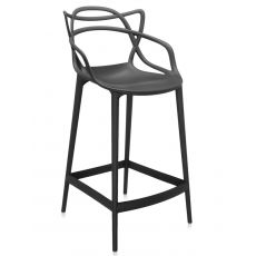Masters stool - Kartell design stool in polypropylene in several colours, seat's height 65 or 75 cm, also for garden
