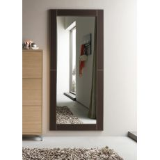 Cinquanta C - Modern mirror with imitation leather frame, several colours and sizes