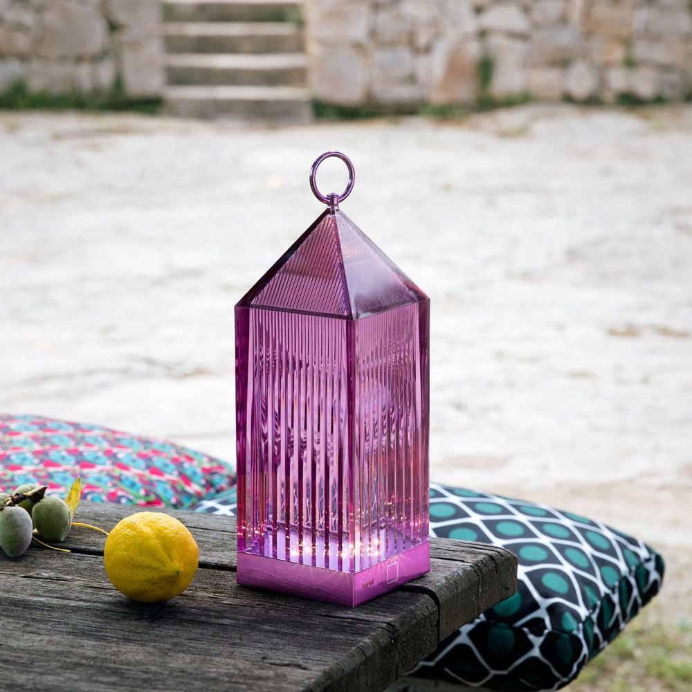 Kartell table lamp in technopolymer, in violet colour