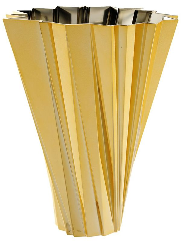 Kartell container vase in gold colour