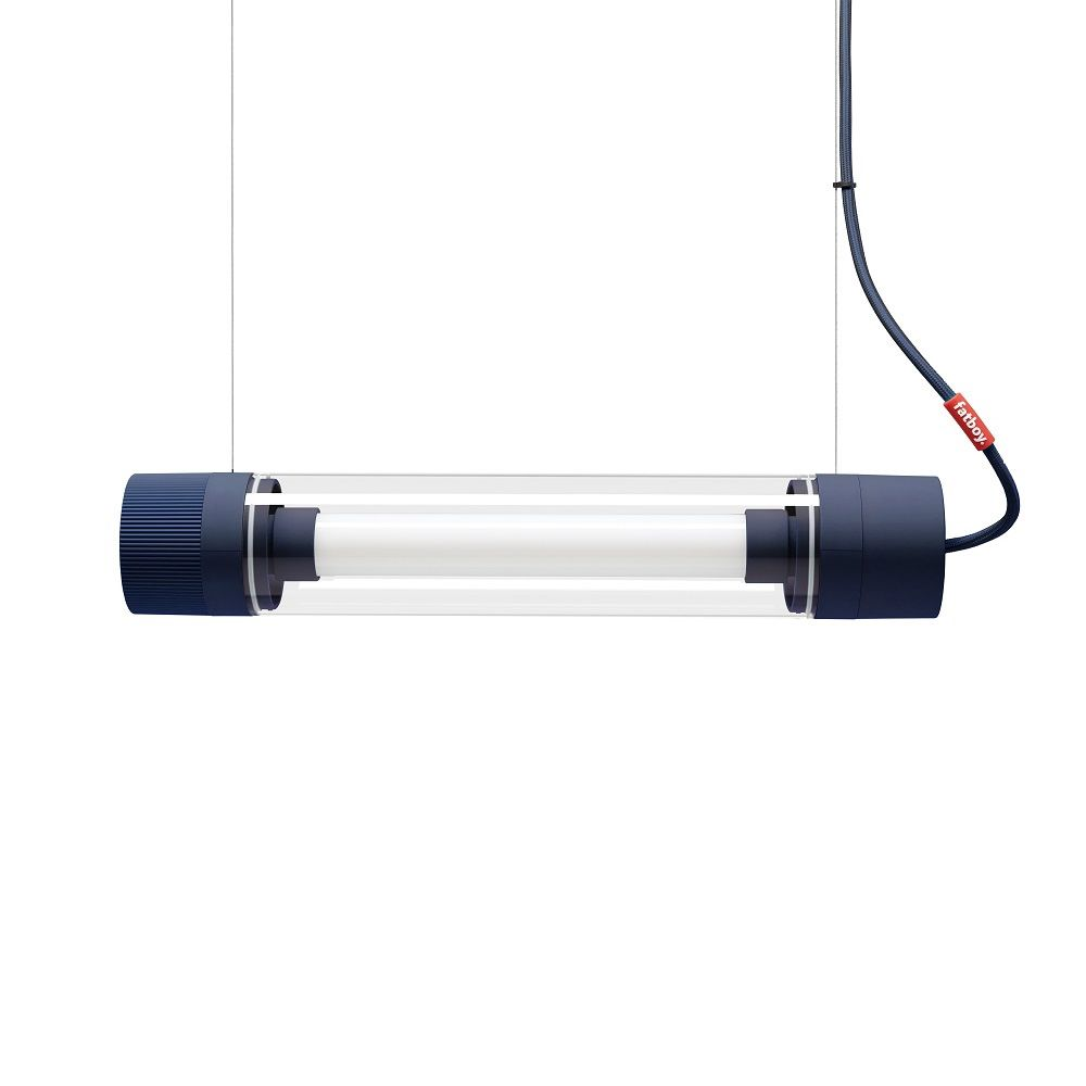 Fatboy fluorescent tube ligthing with LED technology and dimmer, 50 cm, blue colour