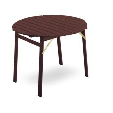 TAVOLO LS13 - Folding table in wood, diameter 100 cm