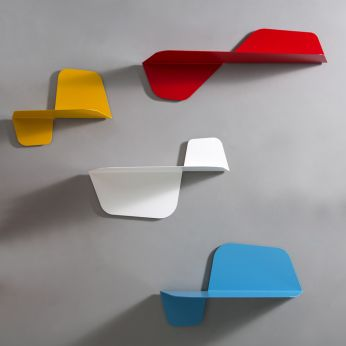 Flap Mensola - Shelf in folded metal, lacquered in different colors