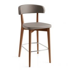 CB1542 Siren - Connubia - Calligaris wooden stool with imitation leather covering, different colours and heights available