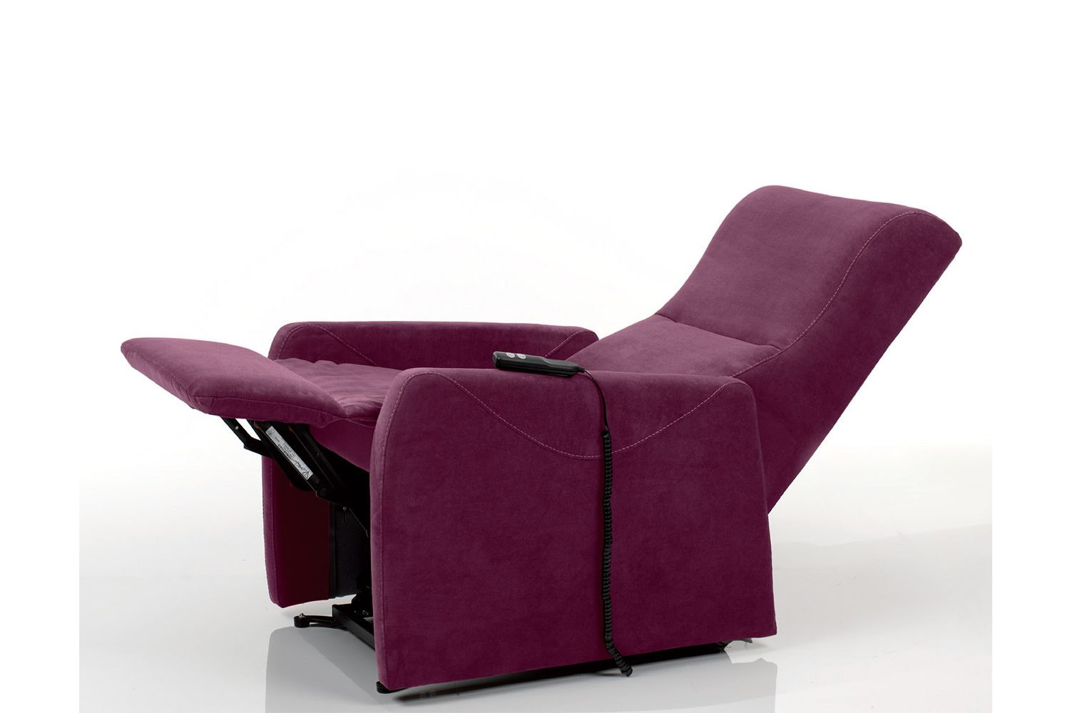 Electric and adjustable relax armchair with Lift mechanism, different upholsteries and colours available, totally removable covering, also with Roller system and massage kit