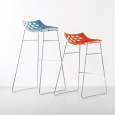 CB1033 Jam - Connubia - Calligaris stool, made of metal and technopolymer, seat height 65 or 80 cm