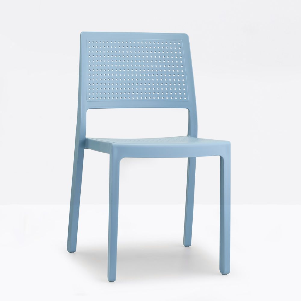 Plastic chair, light blue colour