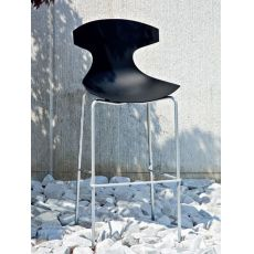 Echo SG Outdoor - Domitalia stool made of metal and polypropylene, seat height 65 cm, for garden