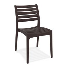 TT1018 - Stackable chair for bars and restaurants, in polypropylene and glass fiber, available in different colours, also for outdoor