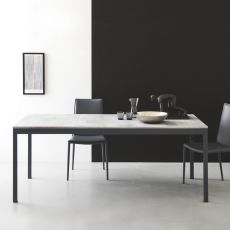 CB4085-ML 110 Snap Outlet - Connubia Calligaris extendable metal table, melamine top, 110 x 70 cm