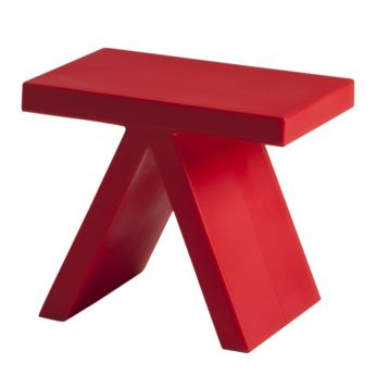 Toy - Polyethylene coffee table in flame red colour