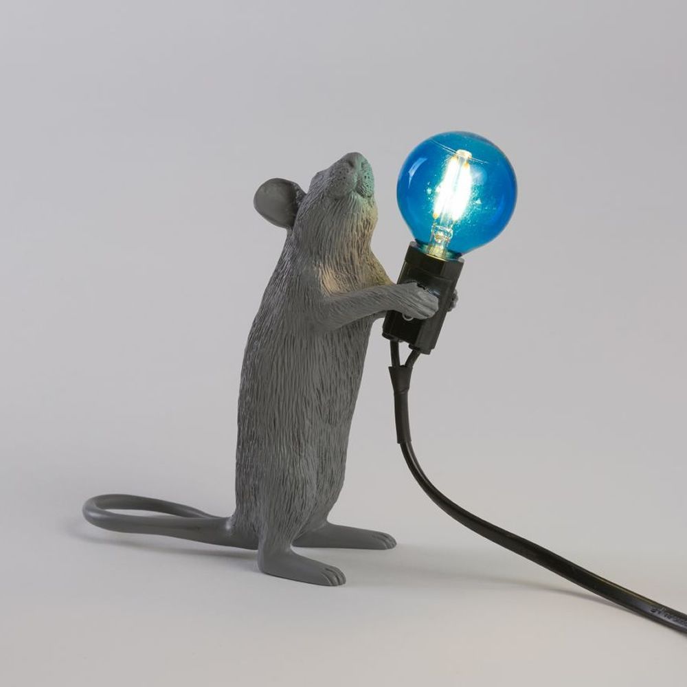 Mouse Lamp Standing Color Gris