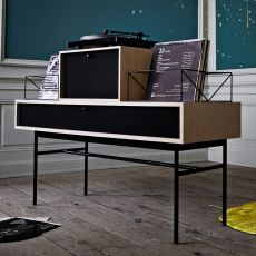 Vinyl - Sideboard in wood and metal, with drawers