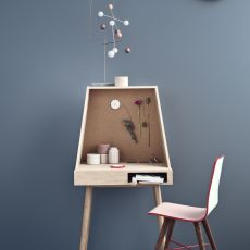 Vilfred - Workstation in oak wood, with compartments