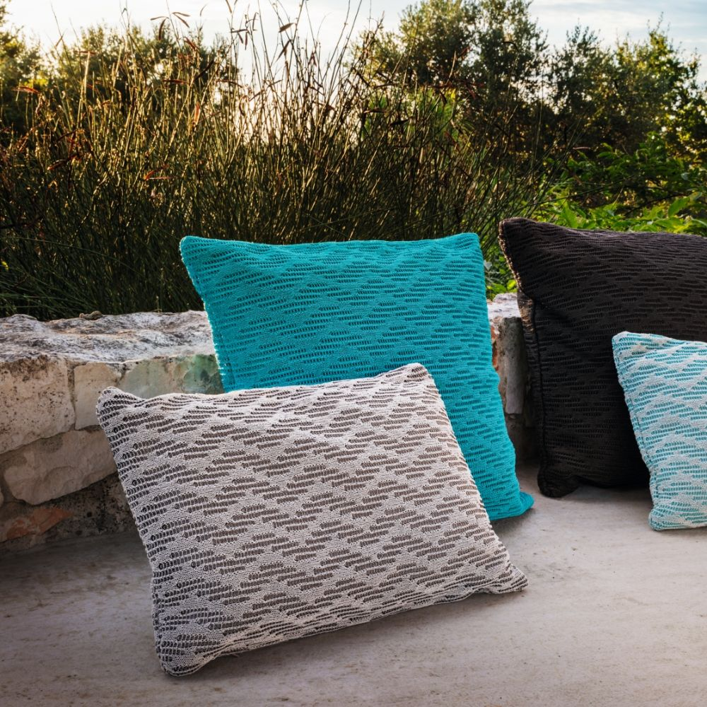 Outdoor cushions size S, colour white + brown
