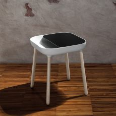 App - Domitalia wooden coffee table, top in polyurethane and lacquered MDF, different colours available