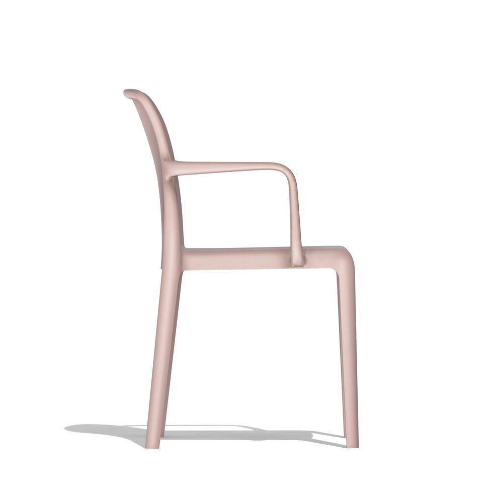 Connubia stackable chair, made of polypropylene, powder pink colour