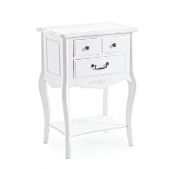 Margherita Side - Table de nuit shabby chic en bois