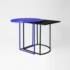 Iso A&B - Petite Friture coffee table, made of metal, available in different dimensions, also for garden