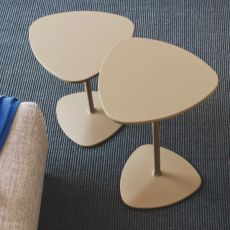 CB5061 Islands - Connubia - Calligaris metal coffee table, laminated top, different heights and colours