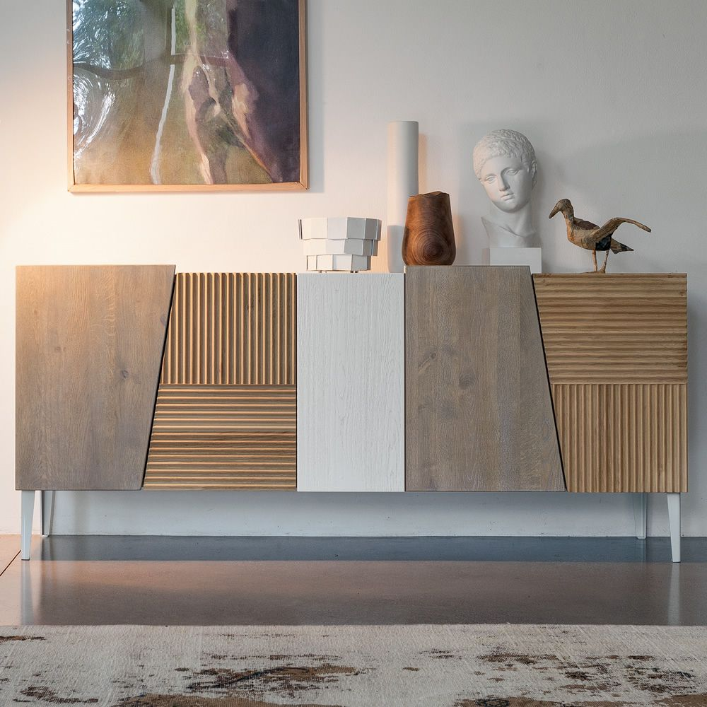 Sideboard made of wood and iron, with doors