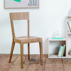 Era - Ton chair in wood, wooden or padded seat