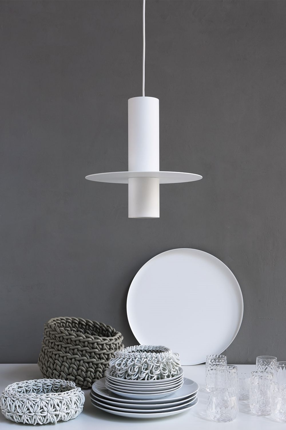 Covo suspension lamp made of metal, white colour