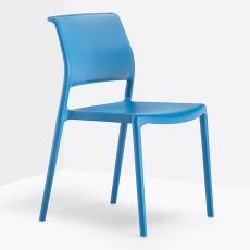 Ara 310 - Pedrali chair in polypropylene, stackable, suitable for outdoor