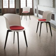 Epica - Design chair made of technopolymer, also swivel, available in different colours