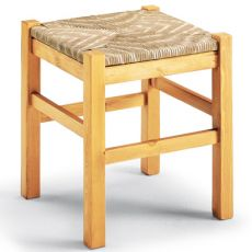 AV307 - Country style wooden stool, in several colours