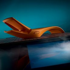 Zoe - Sunbed made of technopolymer, different colours available, adjustable backrest
