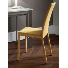 Forest Promo - Domitalia chair entirely covered with fabric in mustard colour