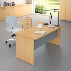 Idea Panel 03 - Office desk, in laminate and metal, available in different sizes and finishes