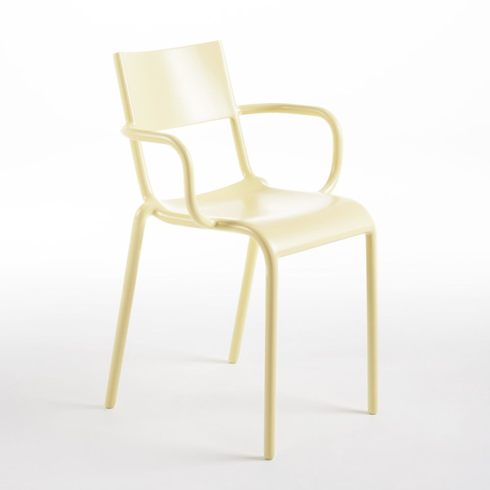 Kartell design chair, in yellow colour