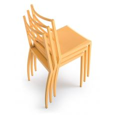 Prisma - Stacking modern chair made of technopolymer, also suitable for outdoors